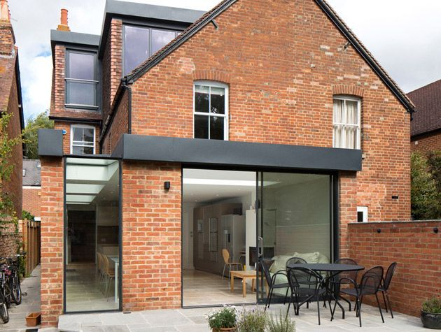 side red brick terrace house back extension - 27+ Small Modern House Designs Uk  Gif